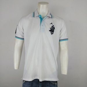 Franky Max NWT men's white short sleeve polo shirt